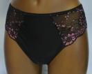 Werso kalhotky Laura černé s růžovou