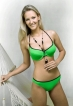 Werso plavky Kelly podprsenka zelená