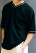 Werso tričko Vítek kr. rukáv šedomodré