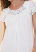 Košilka Barborka bavlněná krátká bílá