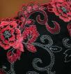 Werso podprsenka Almirka černá s červenou
