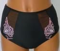 Werso kalhotky vysoké Ambra černé s růžovou