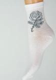 Ponožky slabé s růží 624