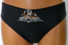 Kalhotky Almirka černé s béžovou