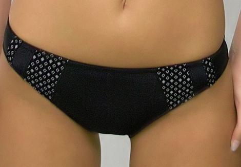 Werso Vini kalhotky černé se vzorem