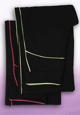 Legíny dlouhé Gizela černé se zelenou