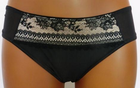 Werso šortky Silvia černé s béžovou