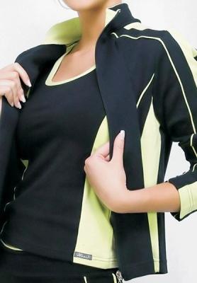 Bundička Aneta prodloužená černá se zelenou